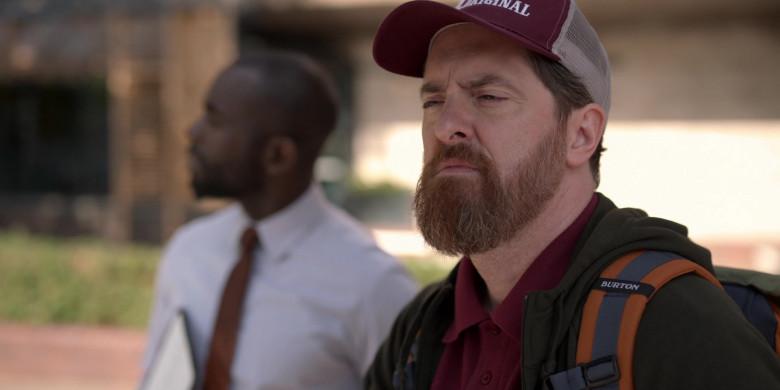 Burton Backpack of Brendan Hunt as Coach Beard in Ted Lasso S01E01 (1)