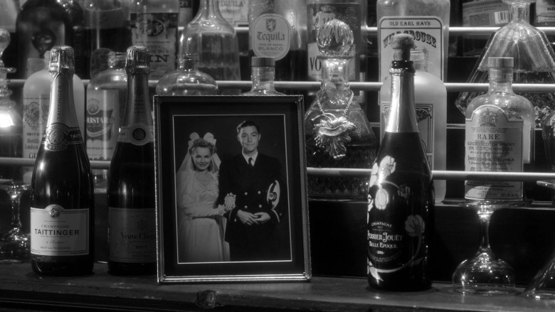 Champagne Taittinger, Veuve Clicquot and Perrier-Jouët Bottles in Lucifer S05E04