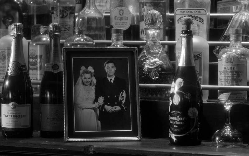 Champagne Taittinger, Veuve Clicquot and Perrier-Jouët Bottles in Lucifer S05E04