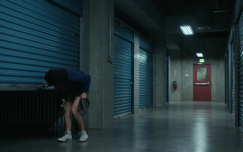 Converse High Top White Shoes Outfit of Brittany O'Grady as Bess in Little Voice S01E08