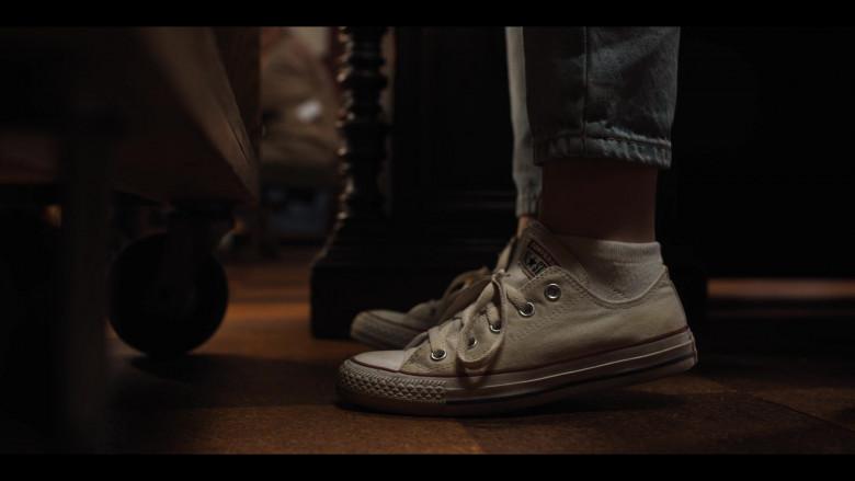 Converse White Low Top Shoes of Actress Sabrina Carpenter
