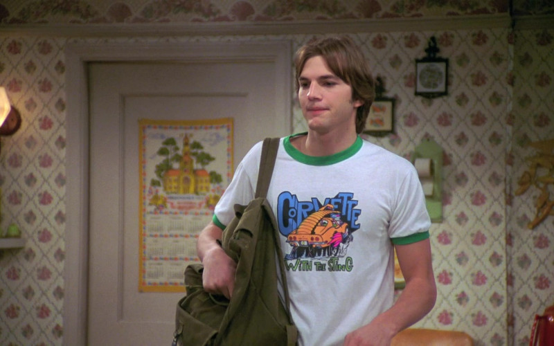 Corvette With The Sting T-Shirt Worn by Ashton Kutcher as Michael in That '70s Show