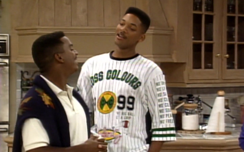 Cross Colours T-Shirt Worn by Will Smith in The Fresh Prince of Bel-Air S02E05 (1)