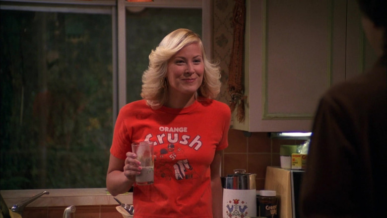 Crush Orange Soda T-Shirt Worn by Brittany Daniel as Penny in That '70s Show S04E14