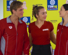 Arena Red Jacket of Daniel Needs in Swimming for Gold (2020)
