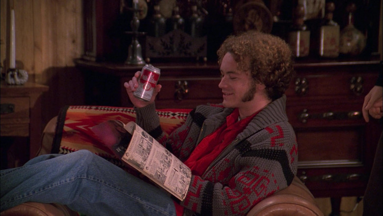 Danny Masterson as Steven Hyde Enjoying Old Milwaukee Beer in That '70s Show S01E13 (1)