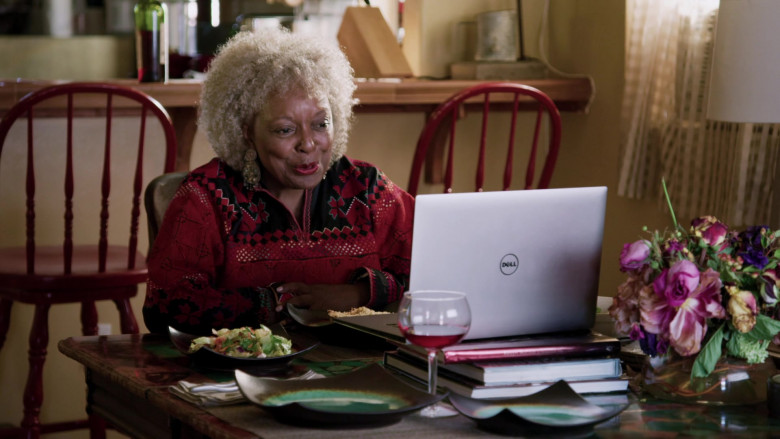 Dell Laptop of L. Scott Caldwell as Nanda in Love in the Time of Corona S01E01 (1)