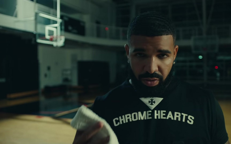 Drake Outfits – Chrome Hearts T-Shirt in Laugh Now Cry Later Music Video (1)