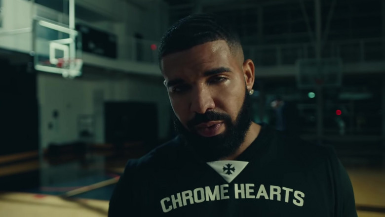 Drake Outfits – Chrome Hearts T-Shirt in Laugh Now Cry Later Music Video (3)