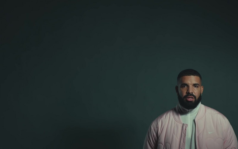 Drake Wears Nike Bomber Pink Jacket Outfit in Laugh Now Cry Later Music Video (1)