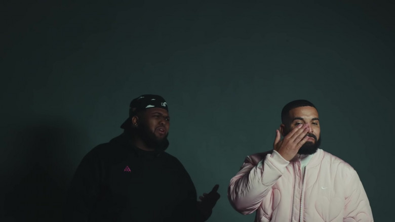 Drake Wears Nike Bomber Pink Jacket Outfit in Laugh Now Cry Later Music Video (2)