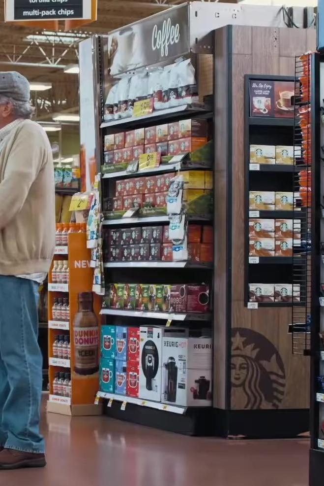 Dunkin' Donuts, Starbucks Coffee, Keurig Coffee Maker in The War with Grandpa