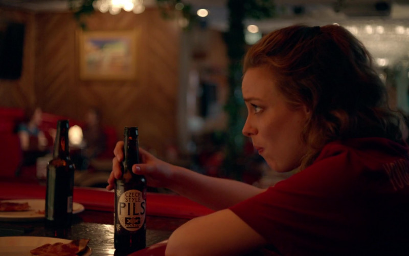 Gillian Jacobs Enjoying Czech Style Pils Beer by Big Muddy Brewing Company