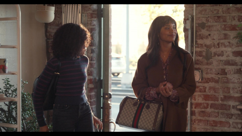 Gucci Bag Carried by Actress Joy Bryant as Lori Foster in Trinkets Season 2 TV Show