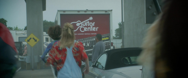 Guitar Center American Music Retailer Chain Truck in Bill & Ted Face the Music