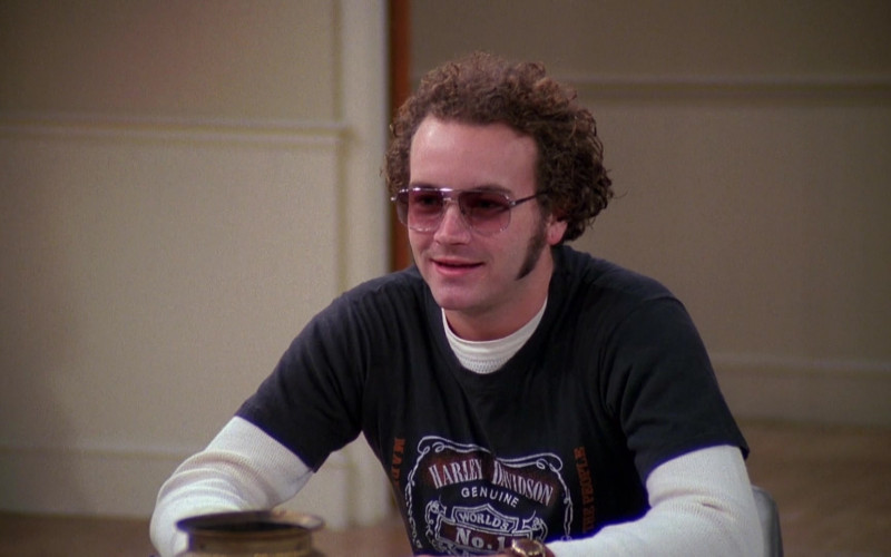 Harley-Davidson T-Shirt Outfit of Danny Masterson as Steven in That '70s Show Season 4 Episode 12