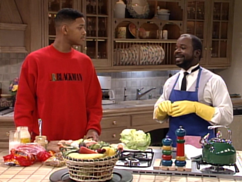 I.B. Blackman Red Sweatshirt Outfit Worn by Will Smith in The Fresh Prince of Bel-Air S03E10 TV Show (4)