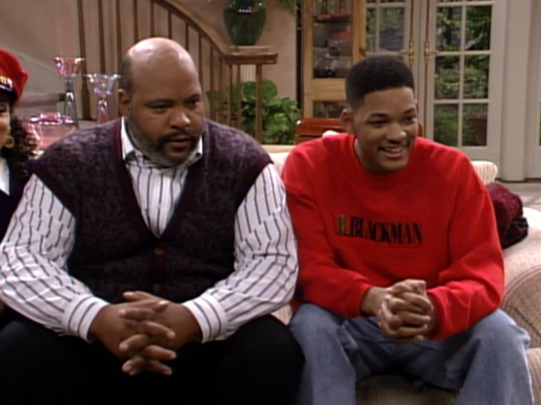 I.B. Blackman Red Sweatshirt Outfit Worn by Will Smith in The Fresh Prince of Bel-Air S03E10 TV Show (7)