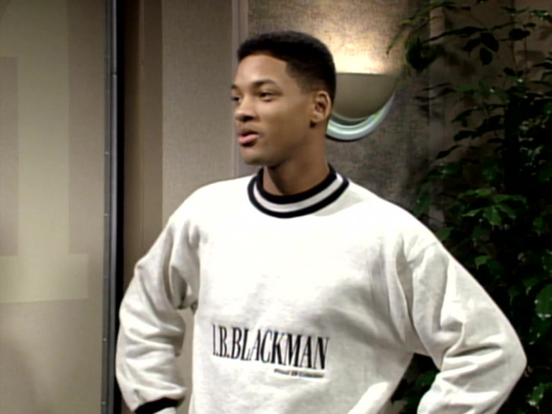 I.B. Blackman White Sweatshirt and Blue Jeans Outfit of Will Smith (4)