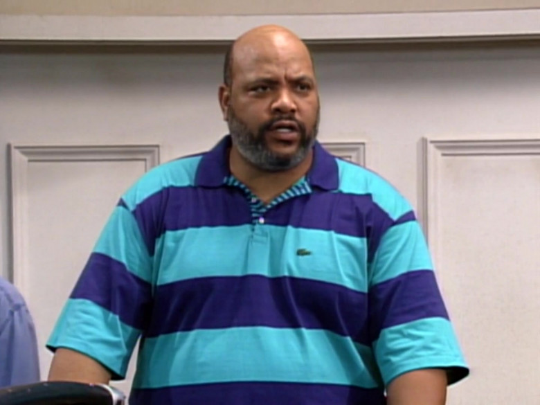 James Avery as Philip Banks Wears Lacoste Short Sleeve Shirt in The Fresh Prince of Bel-Air Season 2 Episode 9 TV Show (1)