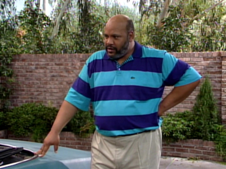 James Avery as Philip Banks Wears Lacoste Short Sleeve Shirt in The Fresh Prince of Bel-Air Season 2 Episode 9 TV Show (2)