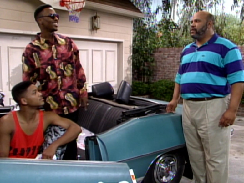 James Avery as Philip Banks Wears Lacoste Short Sleeve Shirt in The Fresh Prince of Bel-Air Season 2 Episode 9 TV Show (3)