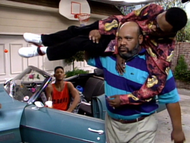James Avery as Philip Banks Wears Lacoste Short Sleeve Shirt in The Fresh Prince of Bel-Air Season 2 Episode 9 TV Show (4)