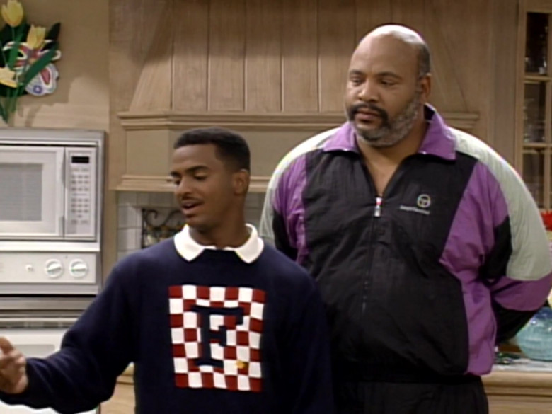 James Avery as Philip Banks Wears Sergio Tacchini Track Jacket Outfit (1)