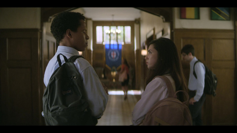 JanSport Backpack Used by Actor in Teenage Bounty Hunters S01E09
