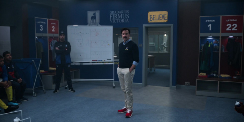 Jason Sudeikis Wears Nike Air Huarache Run Premium Red Sneakers in Ted Lasso Season 1 Episode 5 TV Show (3)