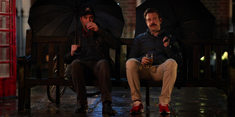 Jason Sudeikis Wears Nike Air Huarache Run Premium Red Sneakers in Ted Lasso Season 1 Episode 5 TV Show (4)