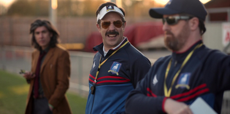 Jason Sudeikis Wears Ray-Ban P Aviator Frame Sunglasses in Ted Lasso Season 1 Episode 3 (2)