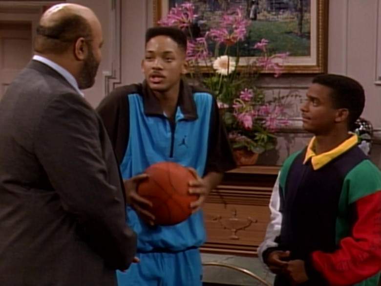 Jordan Blue Sports Shirt Outfit Worn by Will Smith