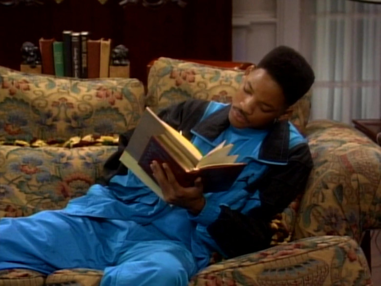 Jordan Blue Tracksuit Outfit of Will Smith in The Fresh Prince of Bel-Air S01E09 TV Show (1)