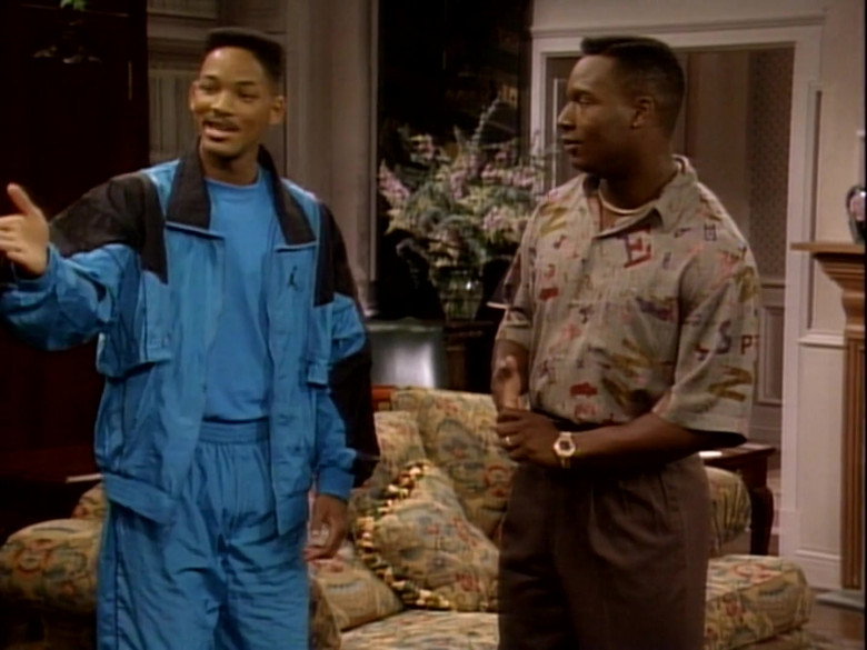 Jordan Blue Tracksuit Outfit of Will Smith in The Fresh Prince of Bel-Air S01E09 TV Show (3)