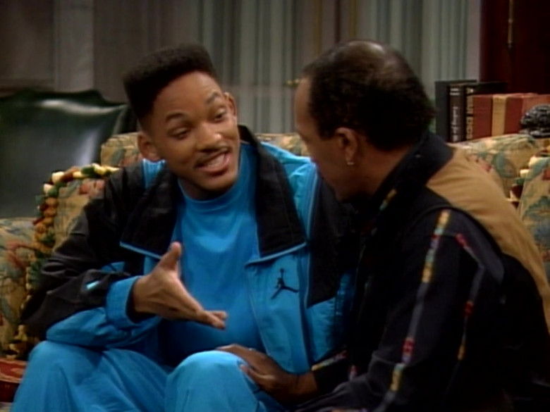 Jordan Blue Tracksuit Outfit of Will Smith in The Fresh Prince of Bel-Air S01E09 TV Show (5)