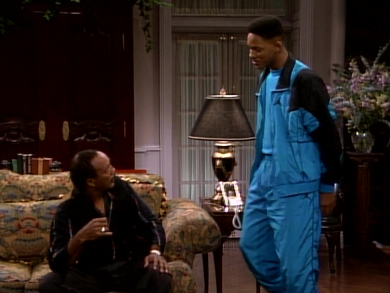 Jordan Blue Tracksuit Outfit of Will Smith in The Fresh Prince of Bel-Air S01E09 TV Show (6)