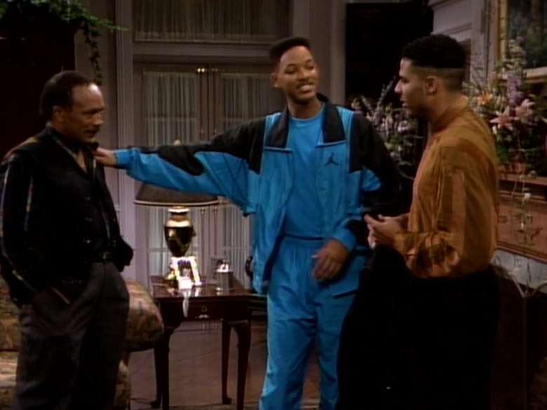 Jordan Blue Tracksuit Outfit of Will Smith in The Fresh Prince of Bel-Air S01E09 TV Show (8)