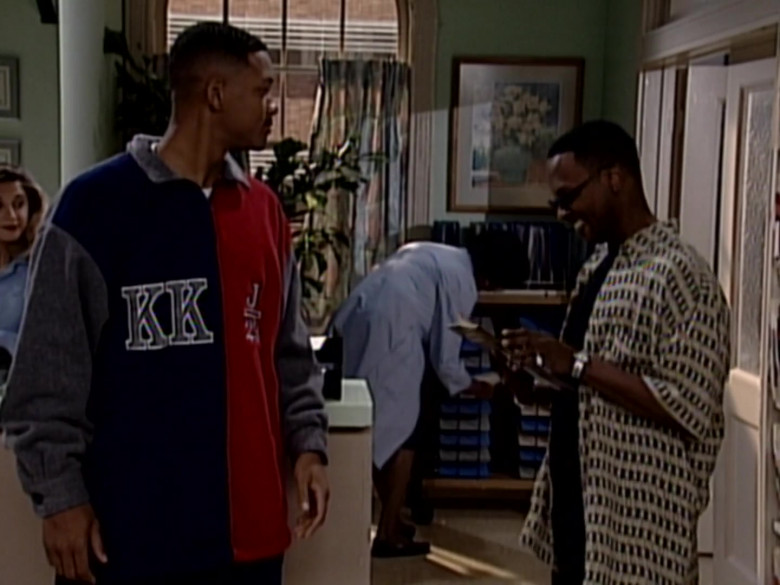Karl Kani J 23 Fleece Jacket Sweatshirt Worn by Will Smith in The Fresh Prince of Bel-Air S06E11 (1)