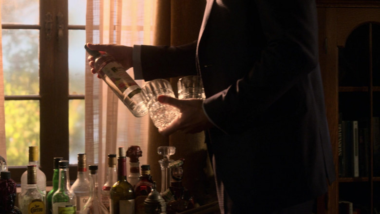 Ketel One Botanical Grapefruit & Rose Vodka Bottle Held by Tom Ellis in Lucifer S05E05