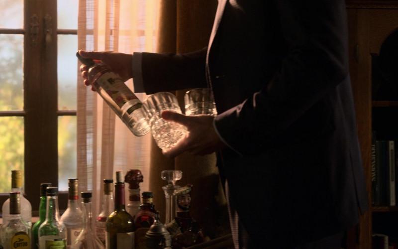 Ketel One Botanical Grapefruit & Rose Vodka Bottle Held by Tom Ellis in Lucifer S05E05