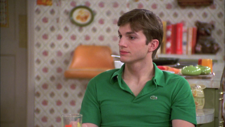 Lacoste Green Polo Shirt Worn by Ashton Kutcher as Michael Kelso in That '70s Show S07E20 (1)