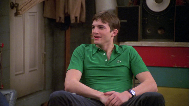 Lacoste Green Polo Shirt Worn by Ashton Kutcher as Michael Kelso in That '70s Show S07E20 (4)