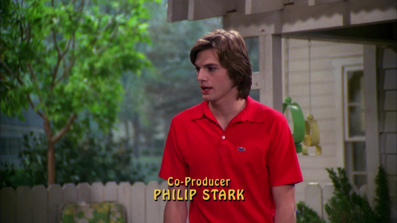 Lacoste Men's Short-Sleeved Shirt Worn by Ashton Kutcher as Michael Kelso in That '70s Show S03E19
