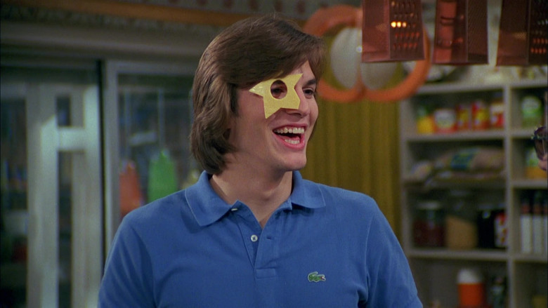 Lacoste Polo Shirt (Blue) Outfit Worn by Ashton Kutcher as Michael Kelso in That '70s Show (2)