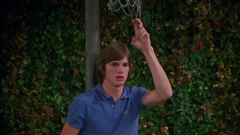 Lacoste Polo Shirt (Blue) Fashion Worn by Ashton Kutcher as Michael Kelso in That '70s Show (3)