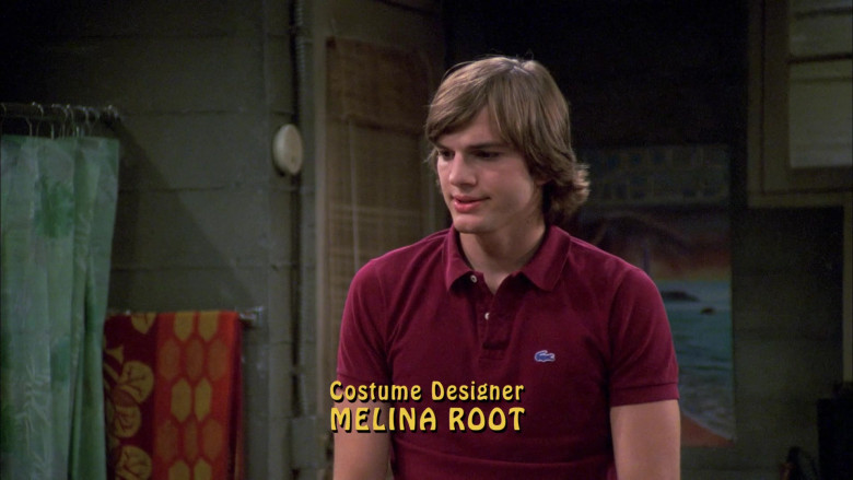 Lacoste Polo Shirt Worn by Ashton Kutcher as Michael Kelso in That '70s Show S05E01 Going to California (2002)