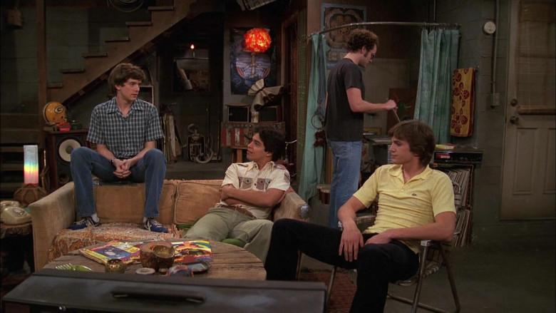 Lacoste Yellow Fashion Shirt of Ashton Kutcher as Michael in That '70s Show S04E26 (1)