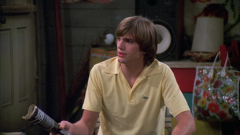 Lacoste Yellow Polo Casual Style Shirt of Ashton Kutcher as Michael in That '70s Show S05E02 (1)