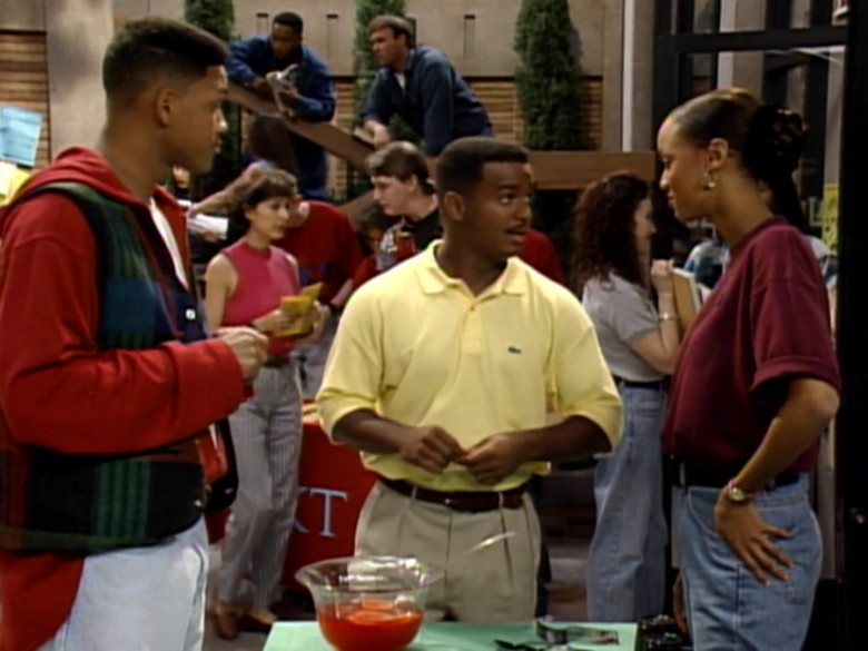 Lacoste Yellow Polo Shirt of Alfonso Ribeiro as Carlton Banks in The Fresh Prince of Bel-Air S04E08 (1)